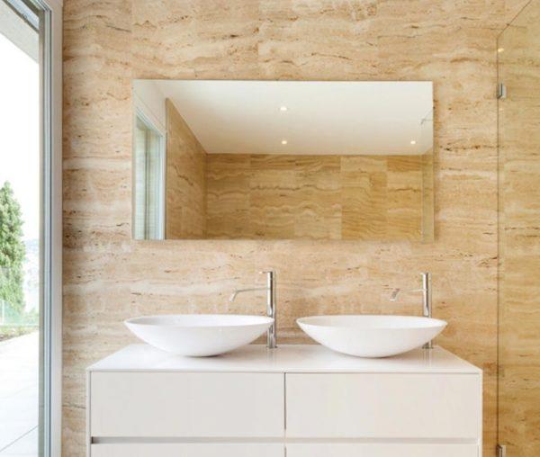 Speil-3 rammeløst infrarød varme speil-på-bad-med-varme
