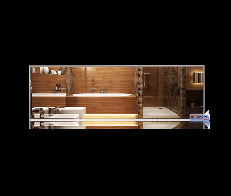 Spiegel Standard 1300x400 infrarød varme speil varme-på-bad